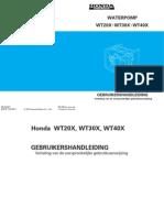 Handleiding en Instructieboekje Honda WT30X Waterpomp - Nederlands