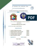 Análisis de Mercado Del Cobre
