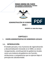 Capitulo i Vision Administrativa de Los Gobiernos Locales