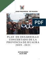 PLAN 12122 Plan de Desarrollo Concertado 2011 de la provincia de huaura