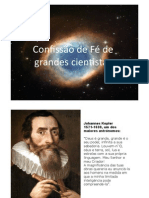Confissão de Fé de Grandes Cientistas
