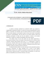 A Transição de Governos e a (Des)Continuidade Da Gestão Da Educação Municipal Fundamentos Jurídico-legais