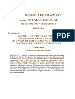 Ley Del Instituto Autonomo de Defensa Civil 2005 Def
