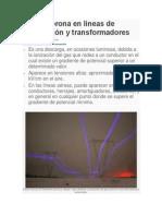Efecto Corona en Líneas de Transmisión y Transformadores