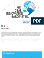2013 GE Global Innovation Barometer Results Summary 33