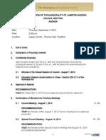 2014 09 04 Lambton Shores Municipality Council  Meeting Agenda
