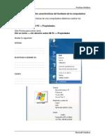 Practicas Windows # 12 Caracteristicas de Hardware de La Computadora