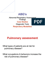 Respiratory Assessment Findings