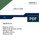 March 09 Mark Scheme