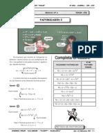 II BIM - 3er. Año - ALG - Guía 6 - Factorización I