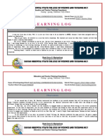 learning log in educ 117