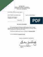 Dr. Scott Greer California Medical Board Documents