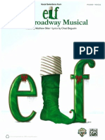 Elf the Broadway Musical Piano Vocal