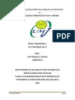 PR Klasifikasi & Tatalaksana Tetanus