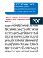 IEEE 2014 JAVA/.NET NETWORK SECURITY PROJECT Shared Authority Based Privacy-preserving Authentication Protocol in Cloud Computing