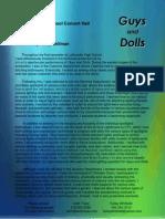 guys dolls motif - text