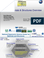 2013_David Marshall_NHSC Hypersonic Materials Structures Overview