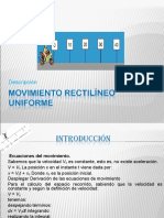 Movimiento Rectilíneo Uniforme 1( FISICA)