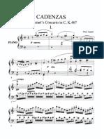 Lipatti - 2 Cadenzas for Mozart's Piano Concerto in C, K 467