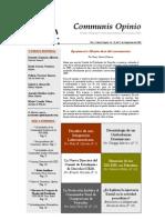 Boletín Communis Opinio - ER - Año 1, No. 19, Del 21 de Septiembre 2009