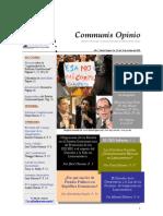 Boletín Communis Opinio - ER - Año 1, No. 20. Del 19 de Octubre del 2009.