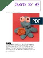 Crocheted Cookie Monster Lookalike Amigurumi