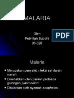 febrillah subdhi - Malaria