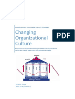 Changing Organizational Culture