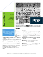 Thanksgiving 1 Psalm 71 Handout 110214