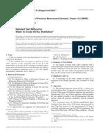 D-4006. Cálculo de agua en el petróleo por Destilación