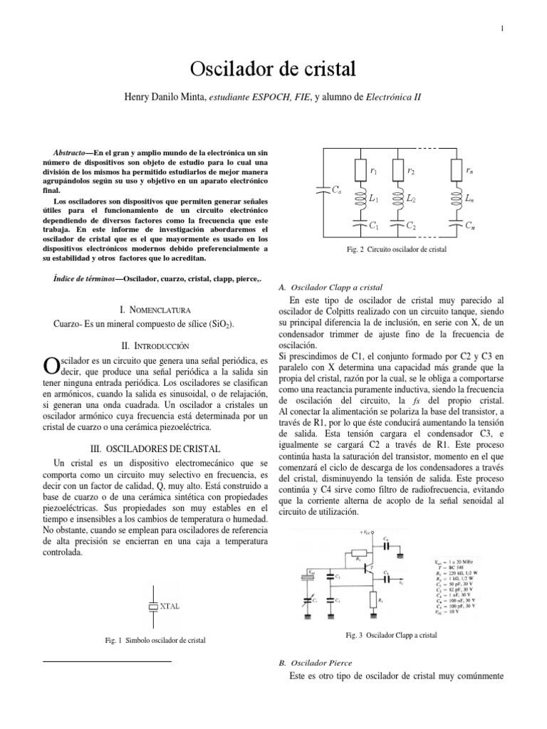 Circuito Oscilador : Oscilador de cristal