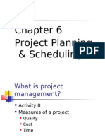 Chapter 6 Project Planning & Scheduling