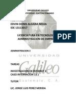 CASO 13.1