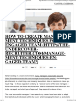 How to Create Management Techniques for an Engaged Team.pdf