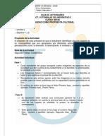 Guia Trabajo Colaborativo, Ciudad Propuesta Cultural II 2014