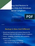 Backup and Restore in Vista