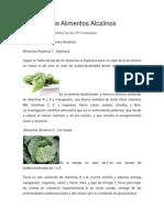8 Magníficos Alimentos Alcalinos