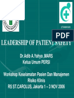 LANGKAH -2 Leadership of Patient Safety (Dr.adib)