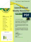 Uplands School Weekly Newsletter - Term 1 Issue 11 - 31 Oct 2014