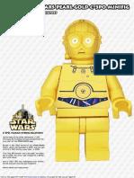LEGO c3po parts papercraft