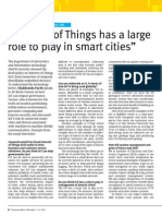 """Internet of Things has a large role to play in smart cities"""