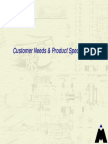 Customer Needs & Product Specifications