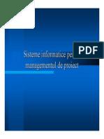 Sisteme Informatice Pentru Management de Proiect-curs