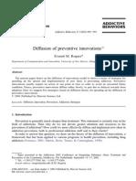 Diffusion of Preventiv Innovation