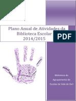 Plano Anual de Atividades da Biblioteca 2014/2015