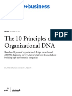 10 Principles of Organizational DNA