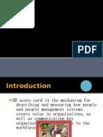 HR Score Card