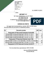 Cerere Oferta de Pret METABET C.F. - 07.10.2013