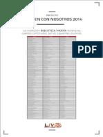 Listado Libros 2014