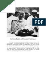 Mahatma Gandhi and Nonviolent Resistance